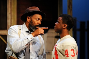 Troy (Lenny Henry) and Cory (Ashley Zhangazha)
