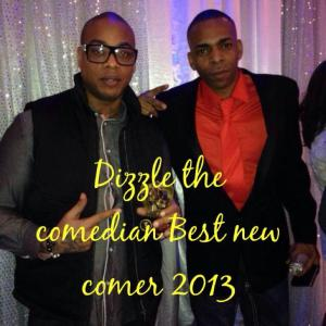 Dizzle - Best Male Newcomer and Slim- Best Male Comedian at the Black Comedy Awards 2013