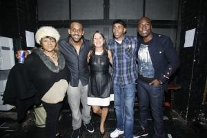 Glenda Jackson, Richard Blackwood, Sarah Moore (GeeStor Productions), Slim & Eddie Kadi