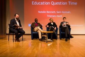Ed Dorrell, Sam Gyimah, Natalie Bennett & Tristram Hunt