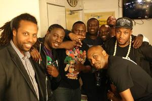 Backstage with the 8 Comedians 8th June 2015