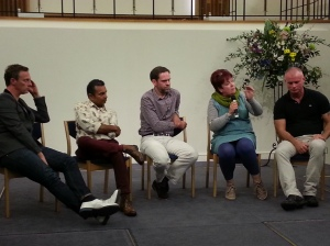 L-R: Martin Daubney, Kenny Mammarella-D'Cruz, John Adams, Karen Woodall & Mark Simpson